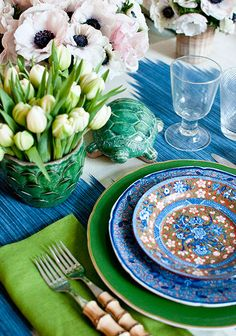 // spring tablescape