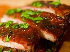 Cherry-Smoked Vietnamese-Flavored Ribs from Serious Eats. Pork Belly Recipes, Rib Recipes, Cooking Recipes, Traeger Recipes, Asian Recipes, Pork Empanadas, Empanadas Recipe, Spareribs Recipe, Barbecue Pulled Pork