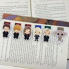 Harry Potter Inspired Magnetic Bookmark by JLynnPaperCo on Etsy