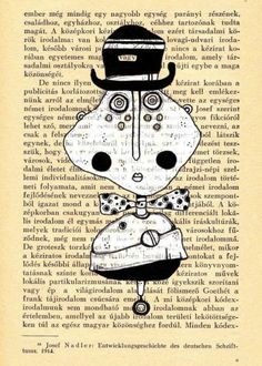 Mixed media art print Folk Art llustration  Art by mohadesign, $10.00
