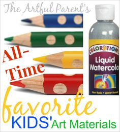 The 25 Best Art Materials for Kids! Including The Artful Parent's top 10 can't-live-without, all-time favorites.