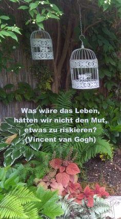 Was wäre das Leben, hätten wir nicht den Mut, etwas zu riskieren? Vincent Van Gogh, Plants, Mathematical Analysis, Happy Life, Quotes, Plant, Planets