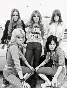 The Runaways, photo by Adrian Boot, 1976 via