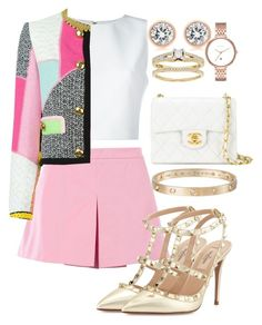 """""""Untitled #78"""" by biancamarie17 on Polyvore featuring Chanel, Alice + Olivia, Love Moschino, Valentino, Moschino, Cartier, Michael Kors and Skagen"""