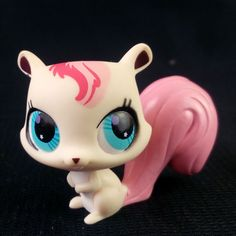 Littlest Pet Shop 2746 White Pink Squirell LPS Toy HASBRO 2006