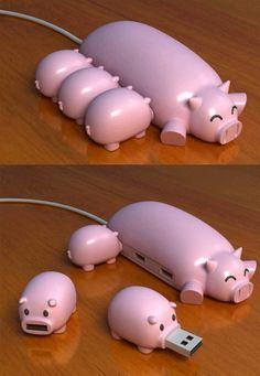 piglet flash drives ♥