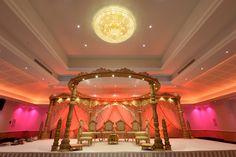 Hindu wedding mandap by Wed in Style at Oshwal Centre