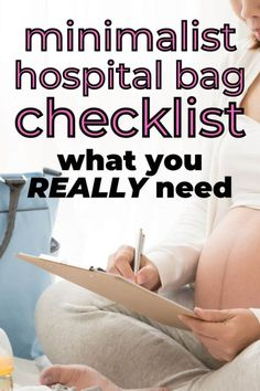 Minimalist Hospital Bag Checklist (What you REALLY need) – Habitat for Mom