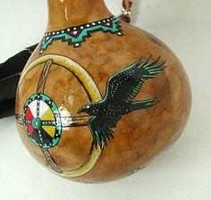 Raven Morning Star Spirit Ceremonial Rattle Cynthia Whitehawk, Apache