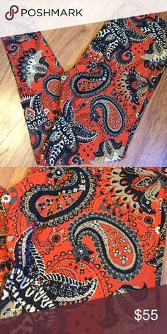 LuLaRoe TC RED PAISLEY leggings Brand new with tag. TC tall and curvy (fits most 12-22) red paisley leggings. Red/orange background. New, popular print. *I am NOT a LuLaRoe consultant. Just an addict who loves to hunt for great prints.* LuLaRoe Pants Leggings