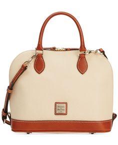 Dooney & Bourke Pebble Zip Top Satchel - Dooney & Bourke - Handbags & Accessories - Macy's