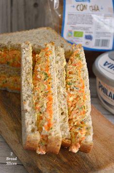 Receta de Sandwich de Zanahoria - 2 Bread Slices - Recipes For Dinner Sandwich Bar, Deli Sandwiches, Slider Sandwiches, Roast Beef Sandwiches, Veggie Sandwich, Sandwiches For Lunch, Turkey Sandwiches, Cucumber Sandwiches, Sandwich Shops