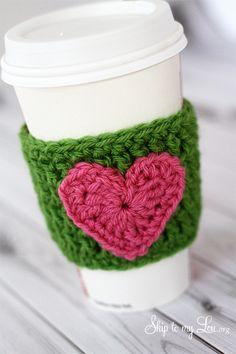crochet coffee cozy... Se lo puden hacer llegar a mi Tía Alba por favor!!