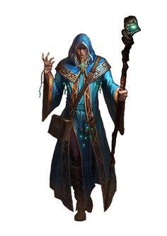 m Wizard Robes Magic Book Staff midlvl traveler