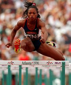 Gail Devers, being a three-time World Champion in the event and two-time Olympic Champion in the 100 metres sprint American Athletes, Female Athletes, Olympic Track And Field, Track Field, Gail Devers, Olympic Athletes, Olympic Champion, Qi Gong, Sport Icon