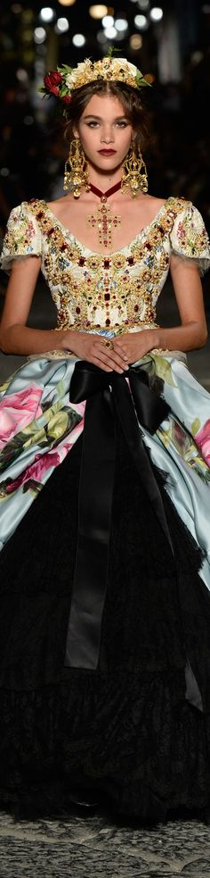 Dolce and Gabbana fall 2016 alta moda-couture, Pauline Hoarau