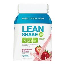 GNC LEAN SHAKE STRAWBERRY CREAM 25  12CT #Unbranded