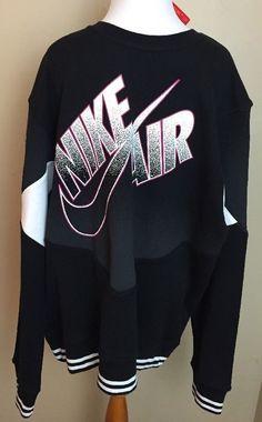 NEW Nike Men's Air Basketball Pivot Crewneck Sweatshirt 588814-010 Size 2XL #Nike #SweatshirtsFleeces