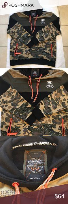 🌟Sweatshirt Hoodie🌟 Camo Design BORN FLY too clean to elaborate 😀😁 Shirts Sweatshirts & Hoodies