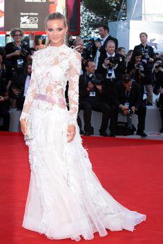 Fiammetta Cicogna wore Alberta Ferretti to the premiere of The Reluctant Fundamentalist at the 69th Venice Film Festival.