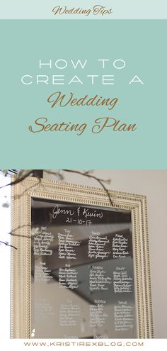 How to Create a Wedding Seating Plan - Kristi Rex Photography