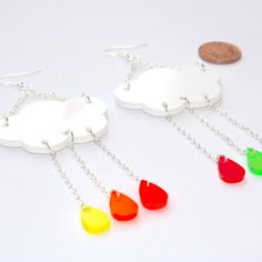 Sour Cherry - Acid Rain Earrings, $25.97 (http://www.sourcherry.co.uk/acid-rain-earrings/)