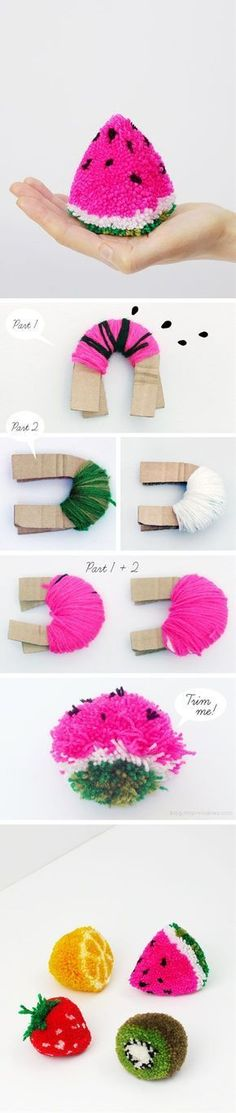 Pom poms can add great amounts of fun to any activity, but there is more to them. You can use pom poms to create amazing crafts, your kids can also participate in creating these fun crafts. Pom poms can be made at home if you don't want to buy them off the store. Here is our collection of the best crafts you can easily create with pom poms. #catsdiycrafts