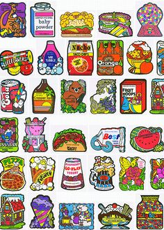Scratch and sniff stickers.  80s.