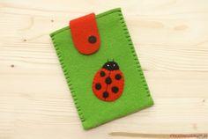 Phone pouch, green - Ladybug 1 from Prezenciarnia-jo  by DaWanda.com