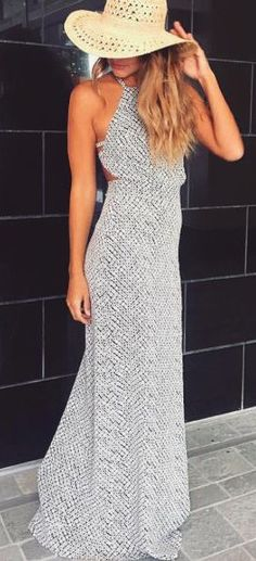 #summer #fashion / maxi dress