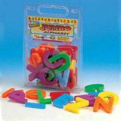 These giant letters are great for helping your child master the alphabet, start to spell, and learn to read. Giant Letters, Magnetic Letters, Learn To Read, Educational Toys, Your Child, Magnets, Alphabet, Learning, Learning Toys