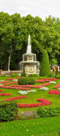 One of the many fountains in the Lower Park gardens of the Peterhof Palace (UNESCO World Heritage Site) ,St.Petersburg,Russia