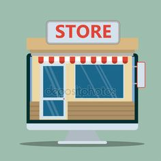 Façade de magasin ou de boutique. Illustration vectorielle design plat — Image vectorielle kateja © #79696648