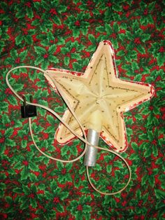 1950's Lighted Christmas Tree Star Foil North by TheIDconnection, $12.00