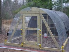 Permanent Hoop Coop Guide - but could modify to make a greenhouse using these plans!!
