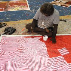 "ABORIGINAL ART PAINTING by JAKE TJAPALTJARRI ""TINGARI CYCLE"" 240 x 152 cm"
