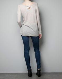 CASHMERE SWEATER WITH LOW BACK - Knitwear - Woman - ZARA United States