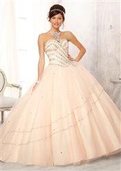 Mori Lee Quinceanera Dress 88082 Champagne