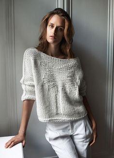 короткий вязаный свитер 1
