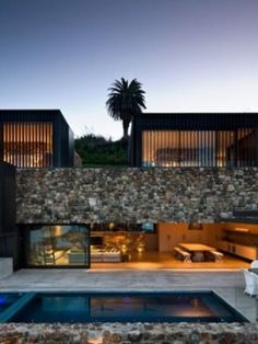 This contemporary farmhouse was designed by Pattersons Architects for an expatriate, located along the coastline of Scrubby Bay in Akaroa, New Zealand. New Zealand Houses, Waiheke Island, House On The Rock, Island Beach, Contemporary, Modern, Beautiful Homes, Building A House, Beach House
