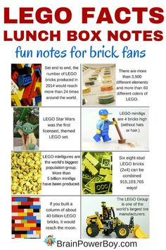 Oh boy! Free printable LEGO lunch box notes that LEGO fans will love. Pop one in your kid's lunch box and they can share fun LEGO facts with their friends. Lego Club, Lego Activities, Lunch Box Notes, Good Notes, Back To School, Diy School, School Days, Summer School, School Stuff