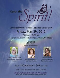Excited to be a part of this special presentation!!!  Will you join us?  #kathleenboldt www.kathleenboldt.com #mediumship #events