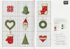Natale. schemi piccoli. Xmas, small patterns.