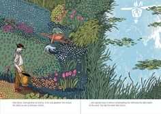 The Garden of Monsieur Monet, by Giancarlo Ascari, illustrated by Pia Valentinis