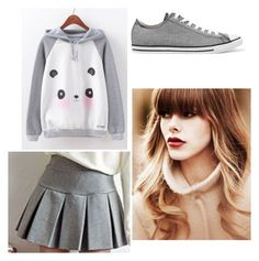 """""""PandaPair"""" by minorimiki-offficial ❤ liked on Polyvore featuring Converse"""