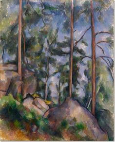 Paul Cezanne - Pines and Rocks Fontainebleau Painting