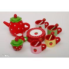 Erdbeer Teeservice von Amleg
