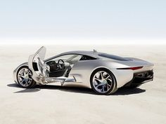 It's the fastest electric car on Earth. The Jaguar C-X75 eats over 200 miles of asphalt in 60 minutes and goes from 0 to 60 mph in just 3.2 seconds. A plug-in hybrid concept car, it has an innovative solution when the electric battery runs low: it simply squeezes more juice. Instead of a traditional combustion engine, it has two 70-kilowatt micro gas turbines that recharge the battery. The first 68 miles are powered fully by the electric engine, and after that it can travel another 500…