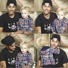 I knew tht lionel had a kid but i really never knew neymar had a kid ! btw he's adoradble :) neymar and david
