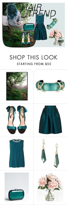 """""""Turquise Simplicty"""" by angeladarr ❤ liked on Polyvore featuring Alexis Bittar, Christian Louboutin, Paper London, Dorothy Perkins, BCBGeneration, Home Decorators Collection, hairtrend and rainbowhair"""